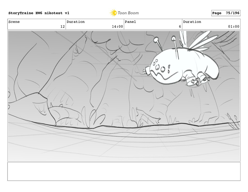 Scene 12 Duration 14:00 Panel 6 Duration 01:00 ...