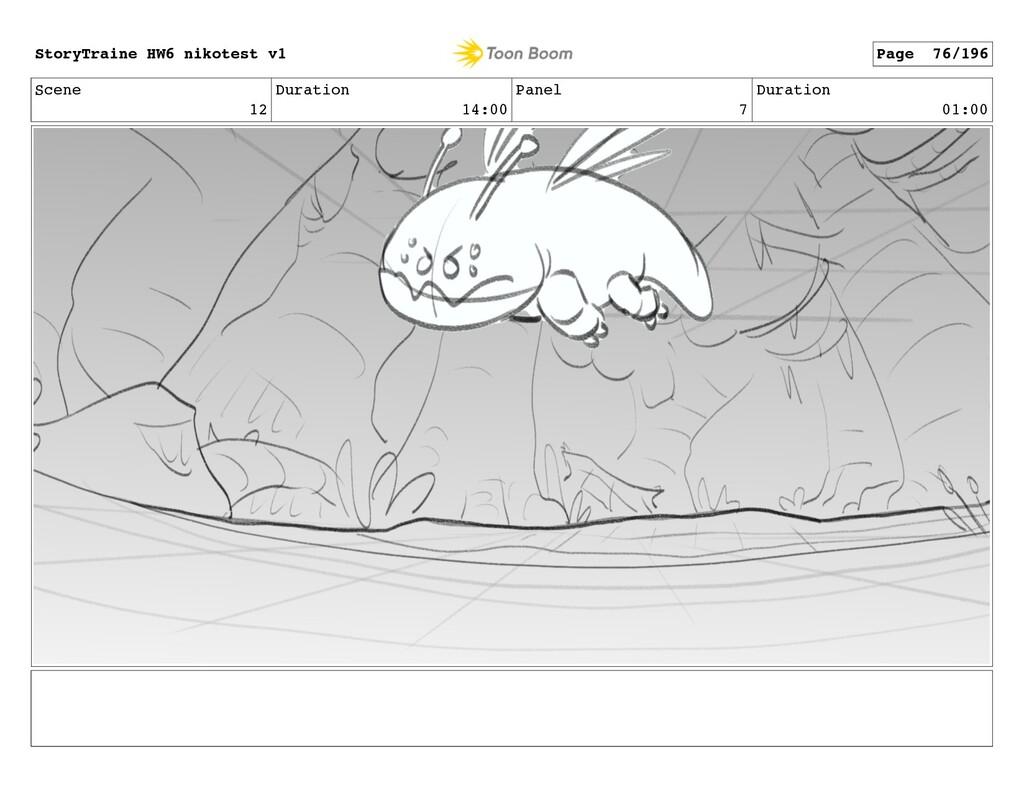 Scene 12 Duration 14:00 Panel 7 Duration 01:00 ...