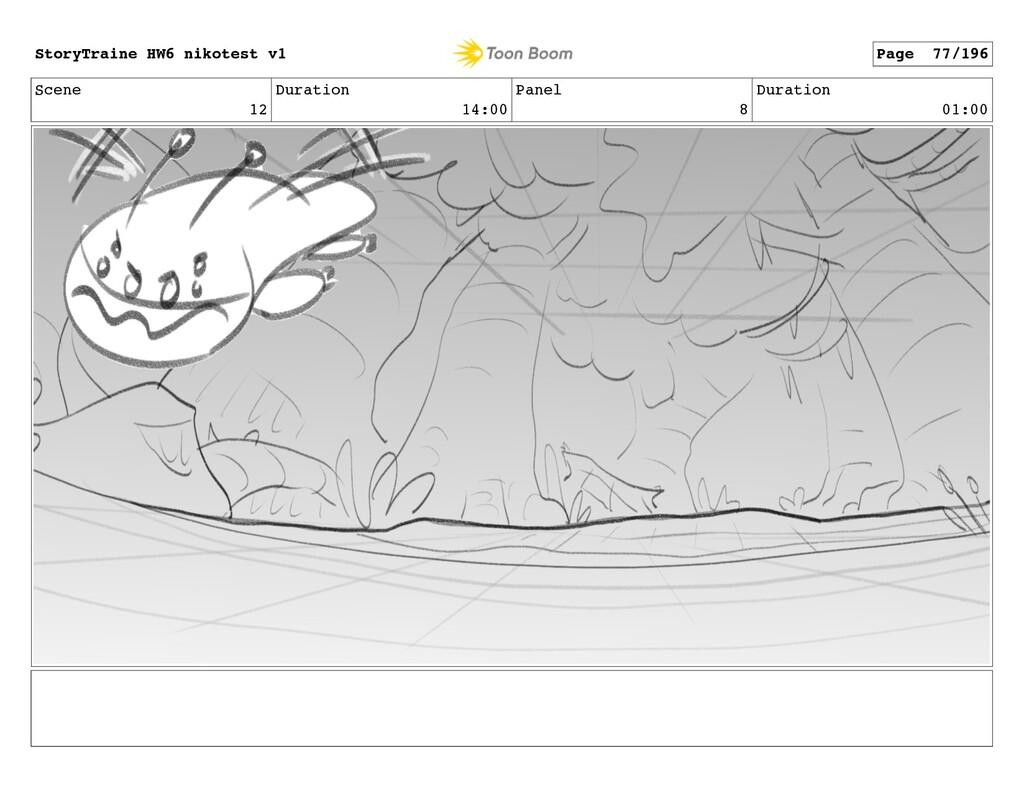 Scene 12 Duration 14:00 Panel 8 Duration 01:00 ...