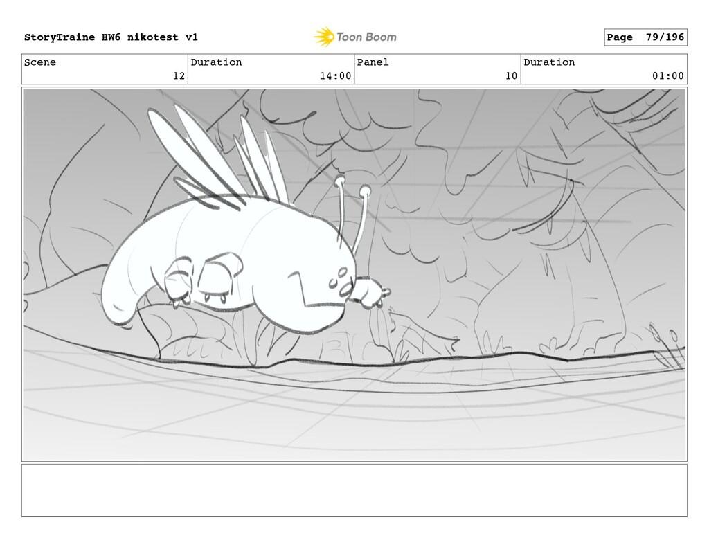 Scene 12 Duration 14:00 Panel 10 Duration 01:00...