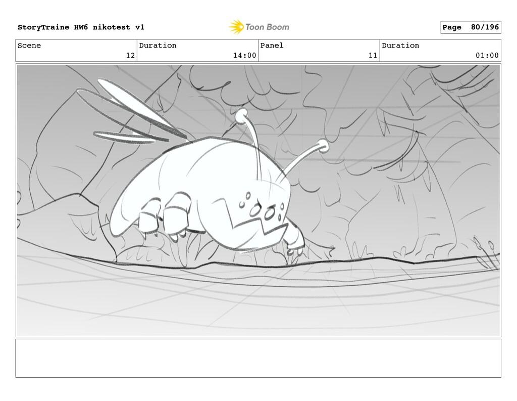Scene 12 Duration 14:00 Panel 11 Duration 01:00...