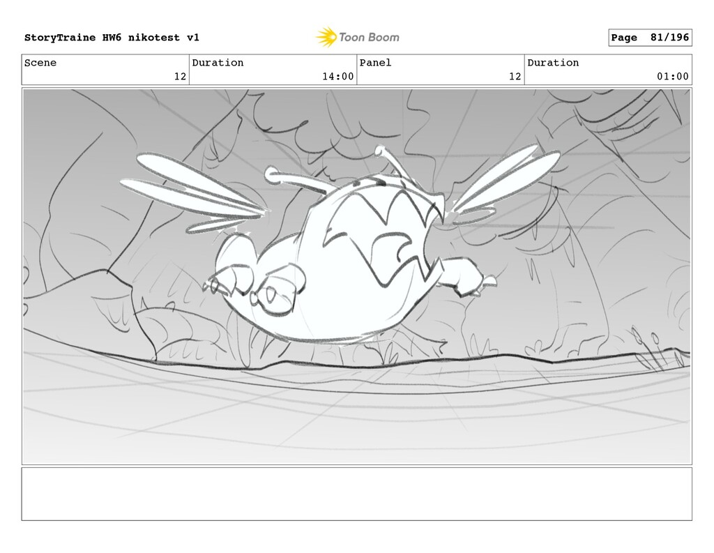 Scene 12 Duration 14:00 Panel 12 Duration 01:00...