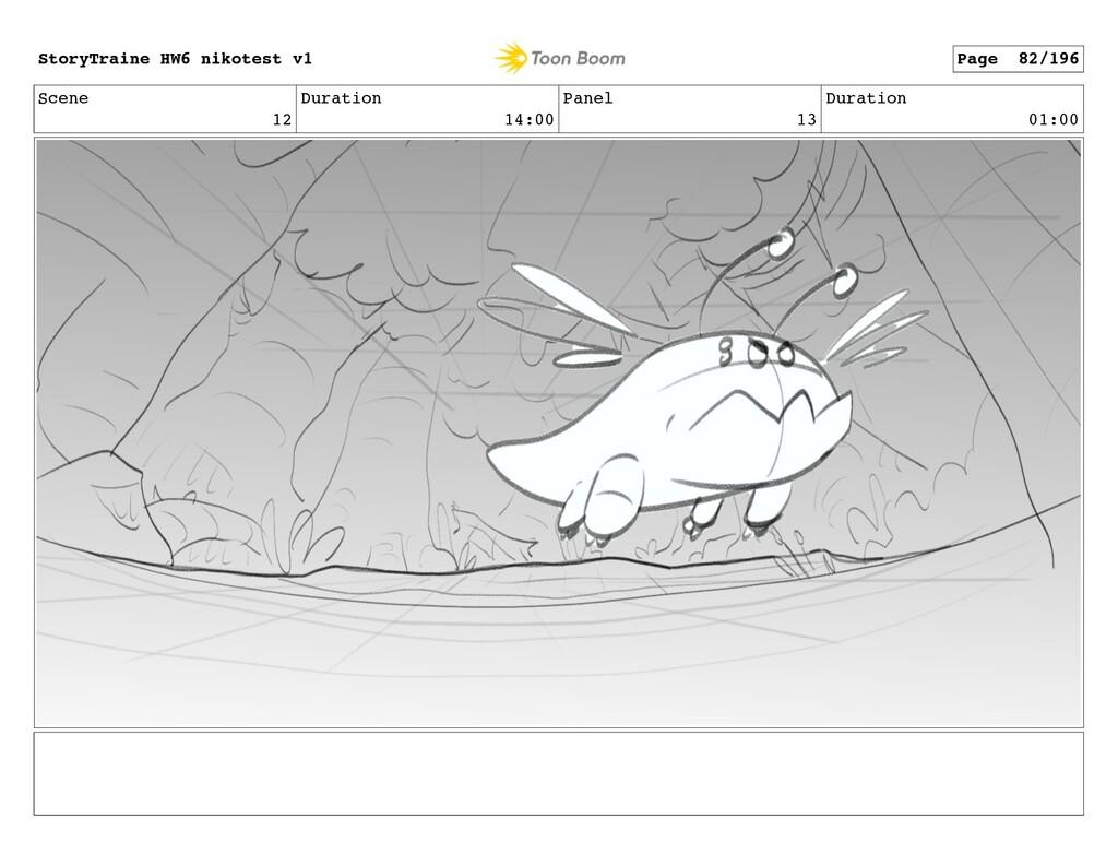 Scene 12 Duration 14:00 Panel 13 Duration 01:00...
