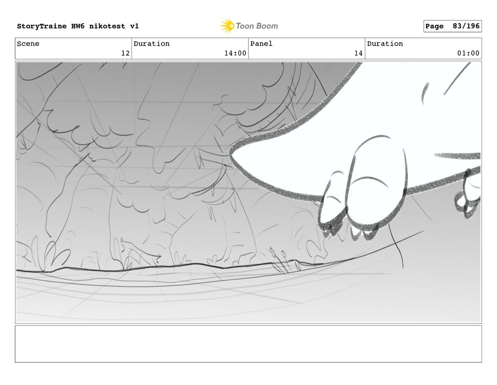 Scene 12 Duration 14:00 Panel 14 Duration 01:00...