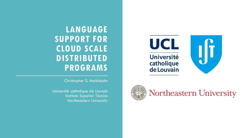 LANGUAGE SUPPORT FOR CLOUD SCALE DISTRIBUTED PR...