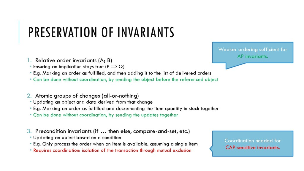 PRESERVATION OF INVARIANTS 1. Relative order in...