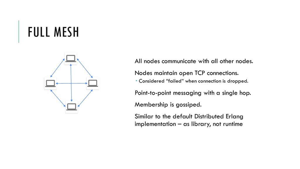 FULL MESH All nodes communicate with all other ...