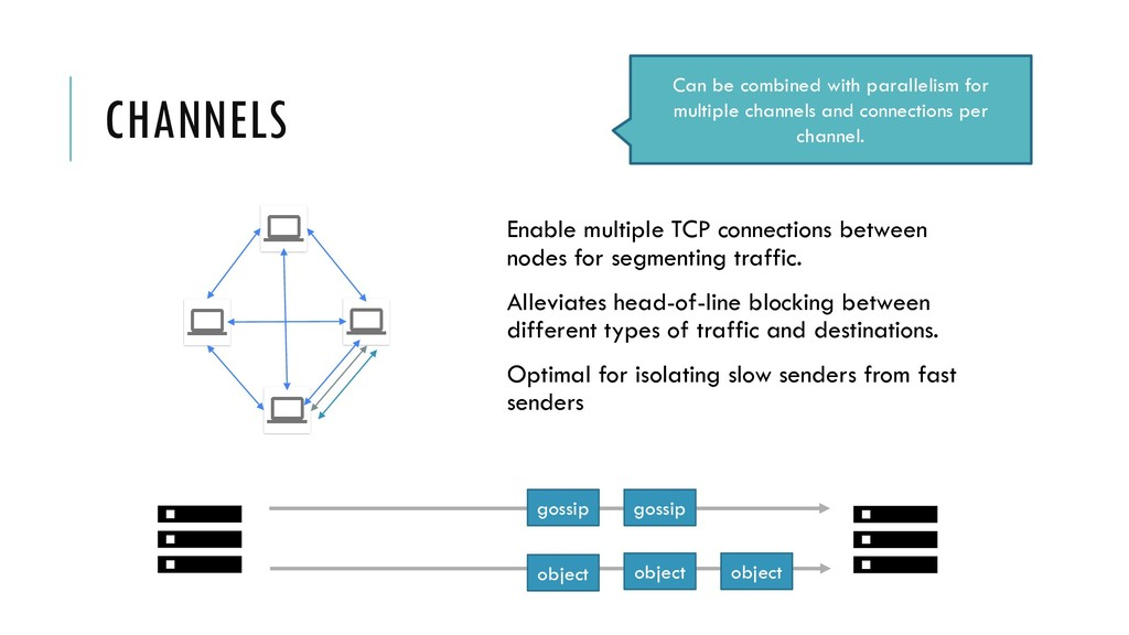 CHANNELS Enable multiple TCP connections betwee...