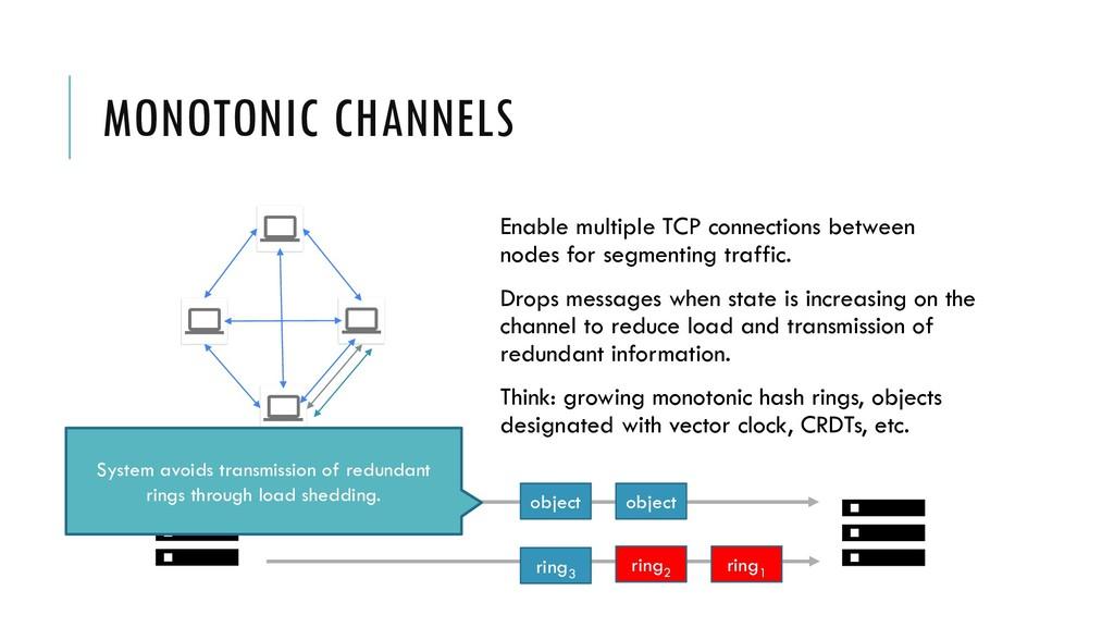 MONOTONIC CHANNELS Enable multiple TCP connecti...