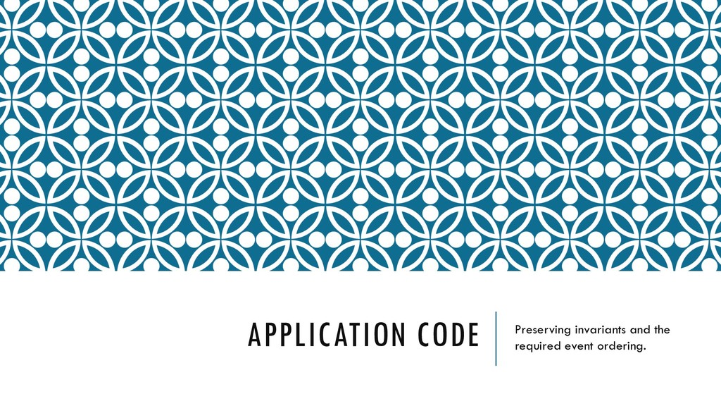 APPLICATION CODE Preserving invariants and the ...