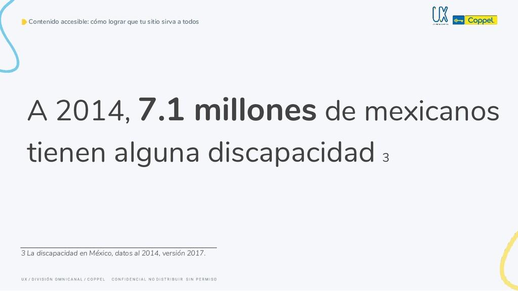 A 2014, 7.1 millones de mexicanos tienen alguna...