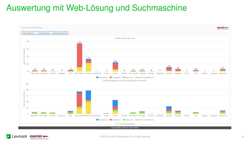 Auswertung mit Web-Lösung und Suchmaschine © 20...