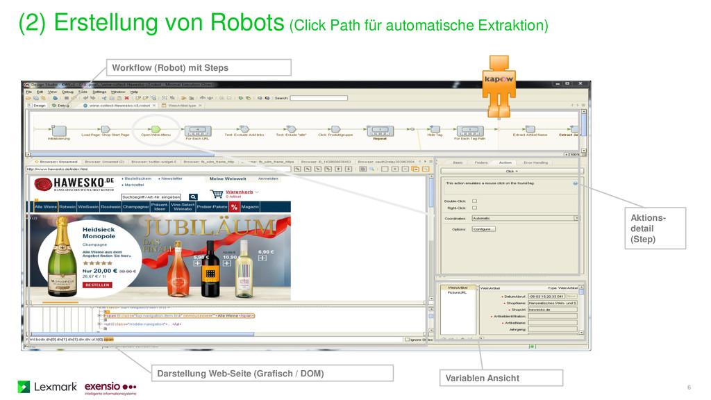 (2) Erstellung von Robots (Click Path für autom...