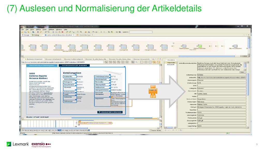 (7) Auslesen und Normalisierung der Artikeldeta...