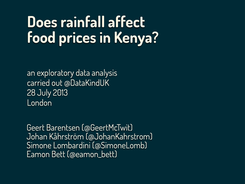 Does rainfall affect food prices in Kenya? an e...