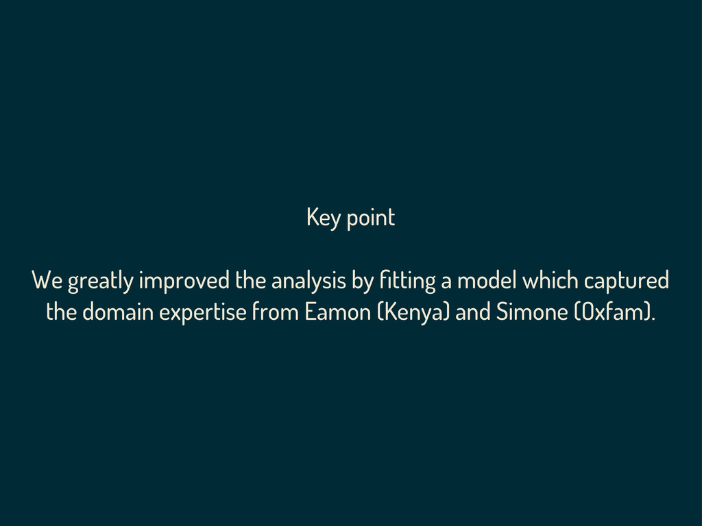 Key point We greatly improved the analysis by fi...