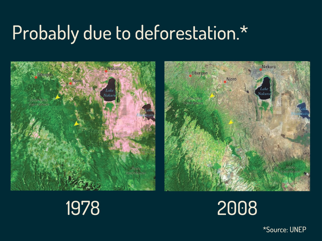 Probably due to deforestation.* 1978 2008 *Sour...