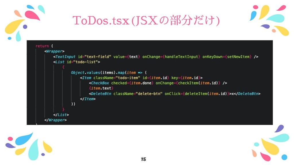 ToDos.tsx(JSXの部分だけ) 15
