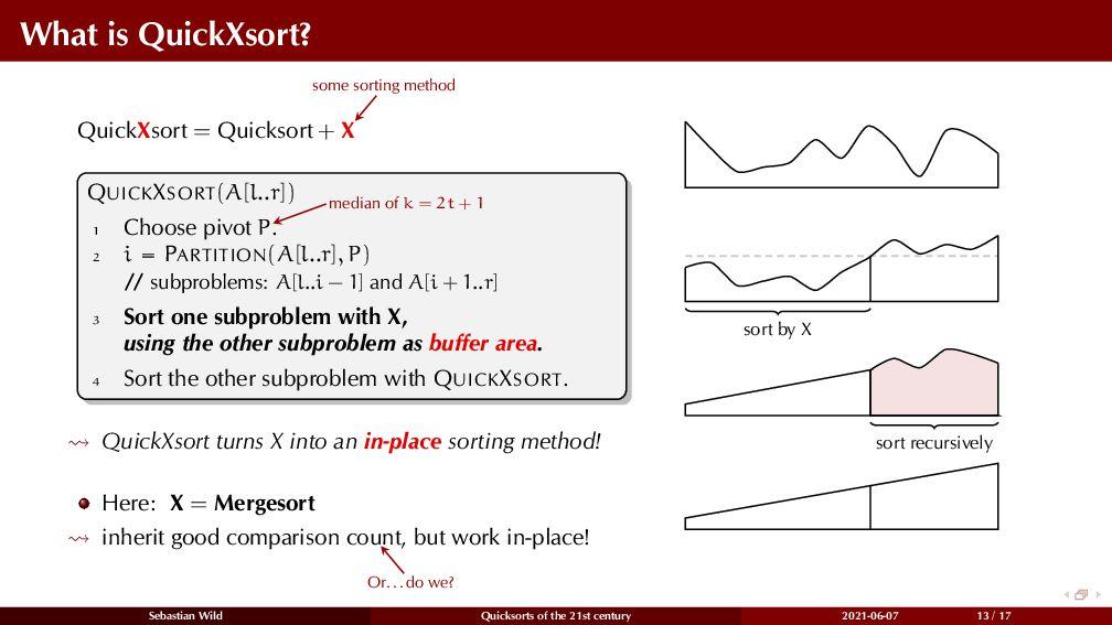 What is QuickXsort? QuickXsort = Quicksort + X ...