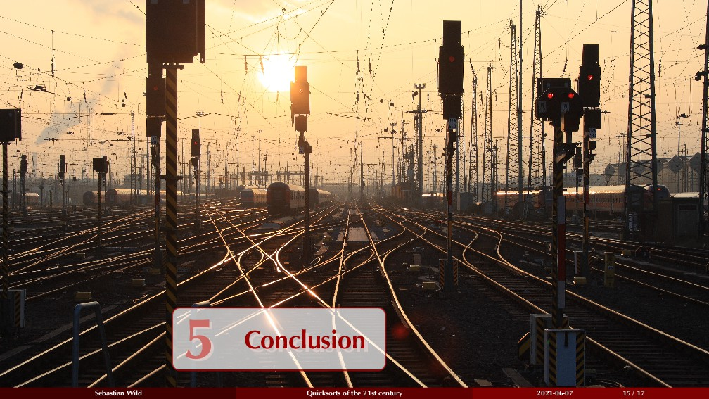 5 Conclusion 5 Conclusion Sebastian Wild Quicks...