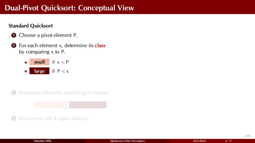 Dual-Pivot Quicksort: Conceptual View Standard ...