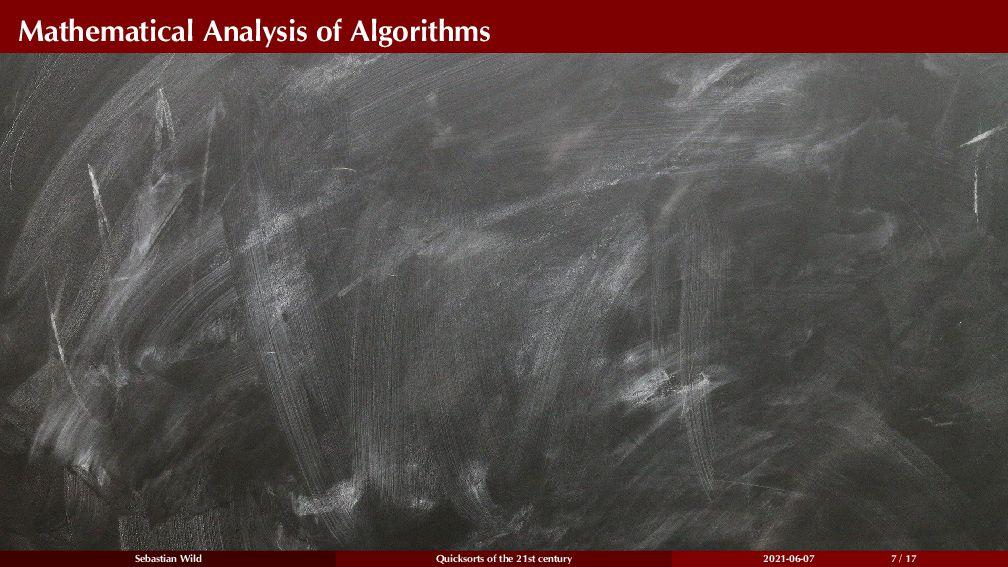 Mathematical Analysis of Algorithms Sebastian W...