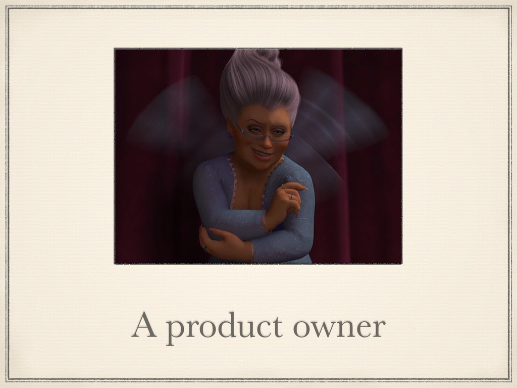 A product owner