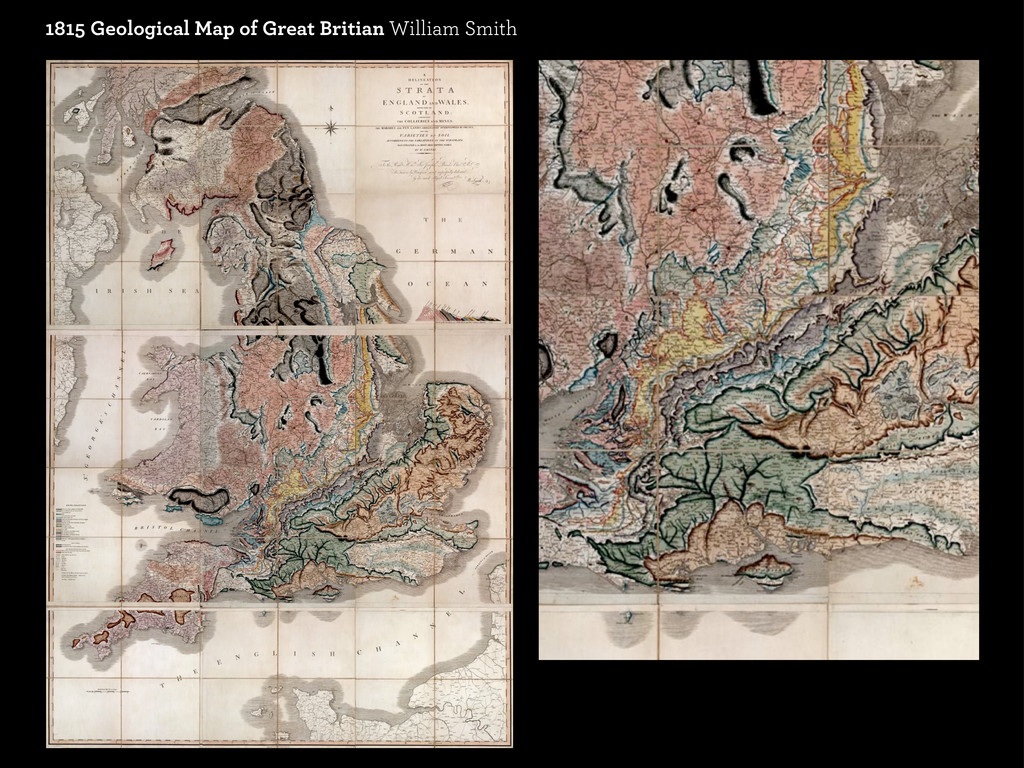 1815 Geological Map of Great Britian William Sm...