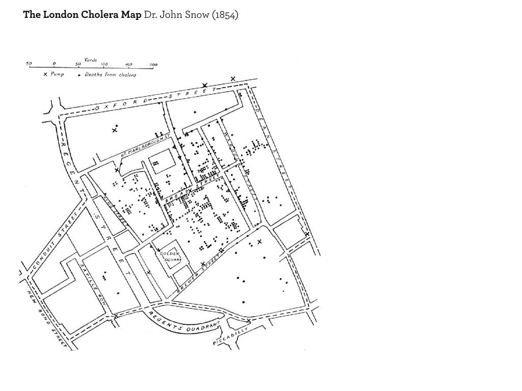 The London Cholera Map Dr. John Snow (1854)