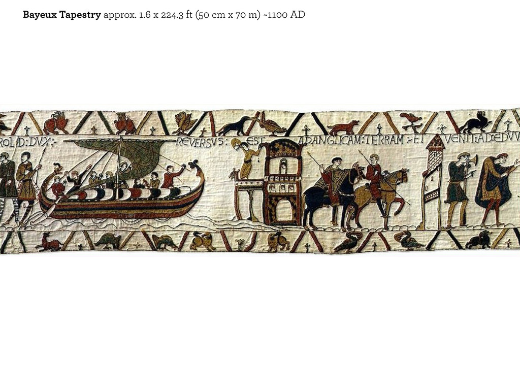 Bayeux Tapestry approx. 1.6 x 224.3 ft (50 cm x...