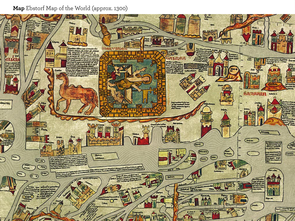Map Ebstorf Map of the World (approx. 1300)