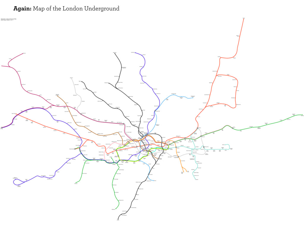 Again: Map of the London Underground