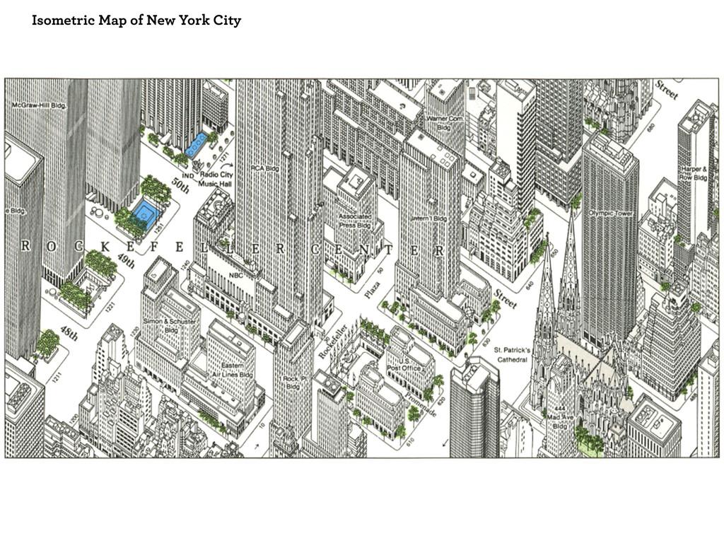 Isometric Map of New York City