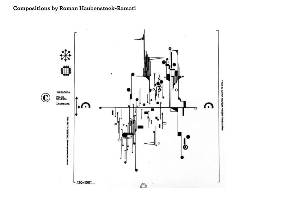 Compositions by Roman Haubenstock-Ramati