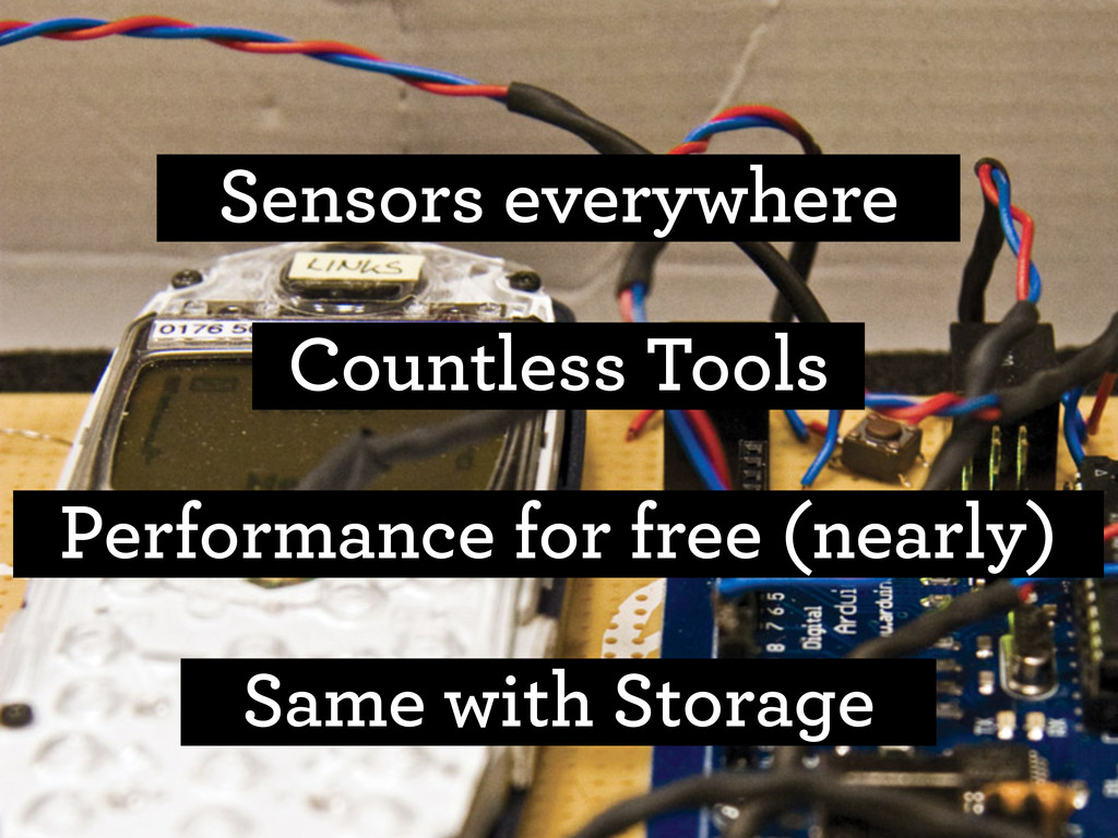 Sensors everywhere Performance for free (nearly...
