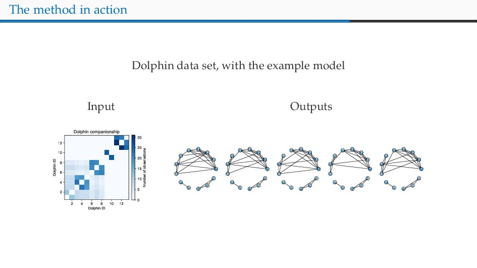 The method in action Dolphin data set, with the...