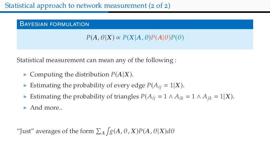 Statistical approach to network measurement ( o...