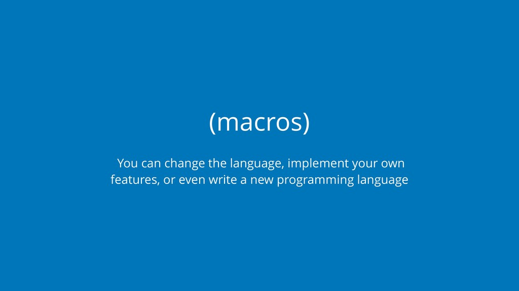 (macros) You can change the language, implement...