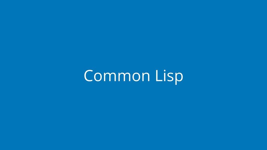 Common Lisp