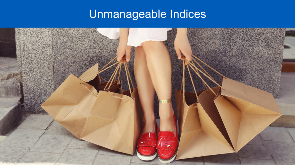 Workday Confidential Unmanageable Indices