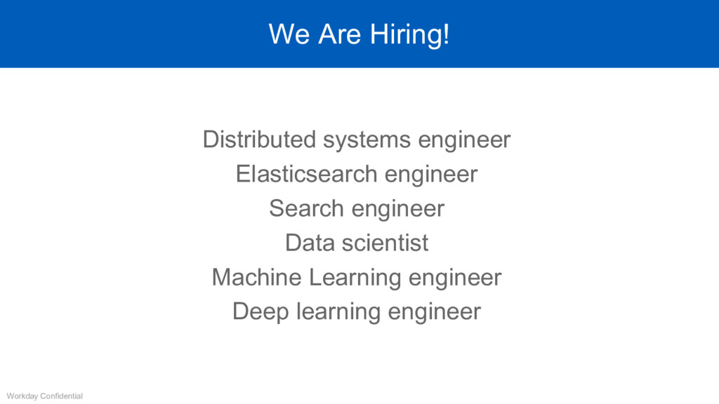 We Are Hiring! Distributed systems engineer Ela...