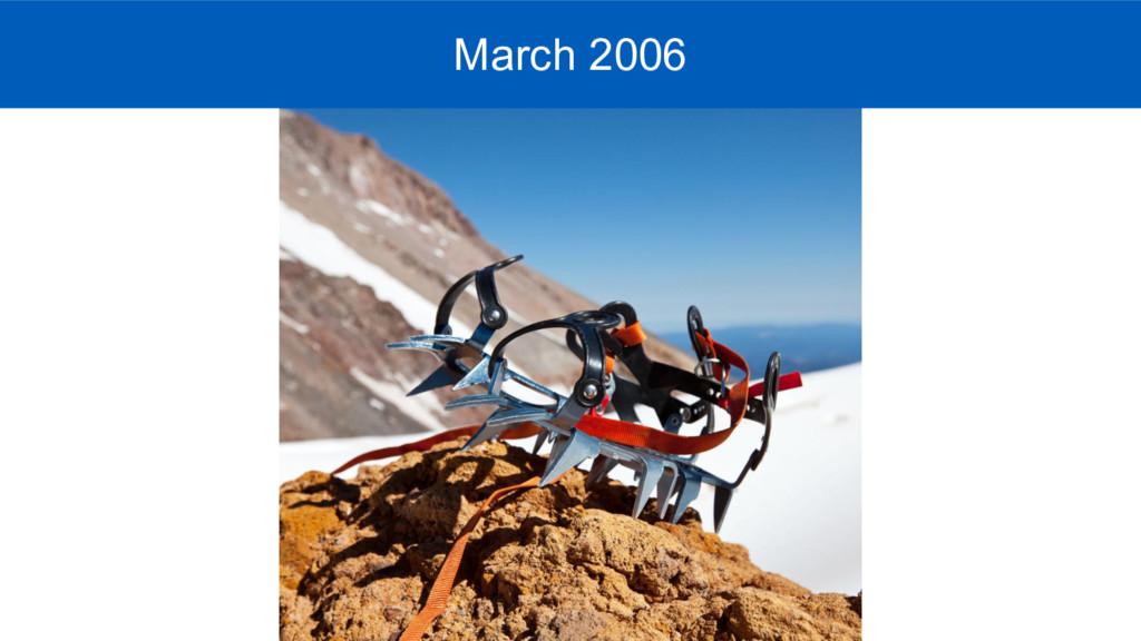 Mar 2009 - March 2006