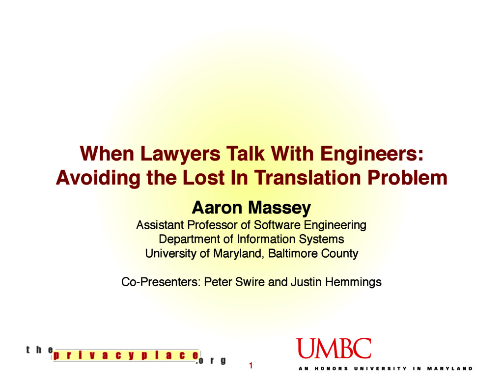 When Lawyers Talk With Engineers: Avoiding the ...