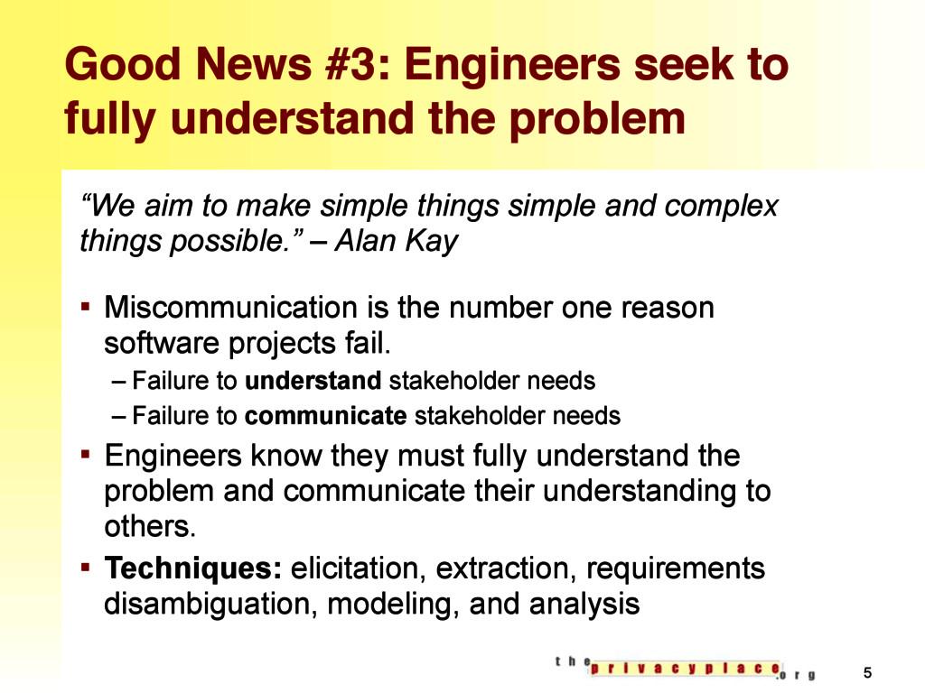 Good News #3: Engineers seek to fully understan...