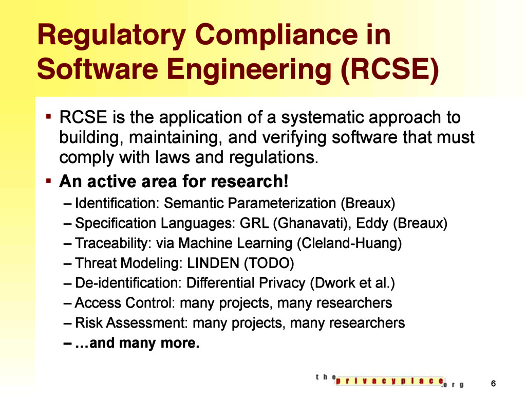 Regulatory Compliance in Software Engineering (...