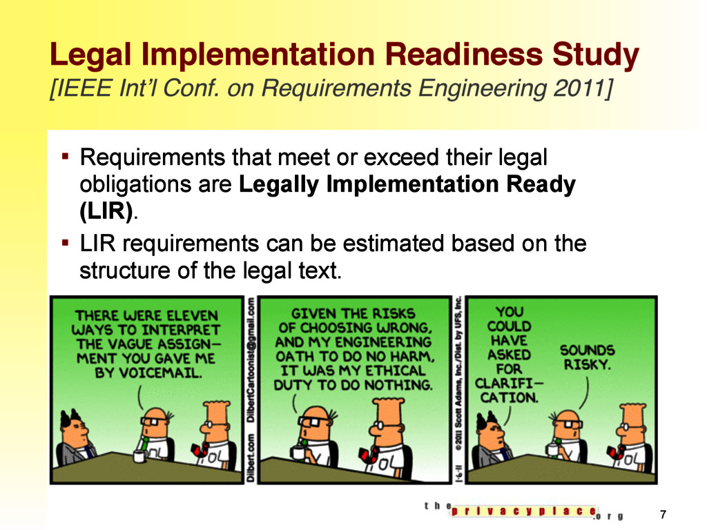 Legal Implementation Readiness Study [IEEE Int'...