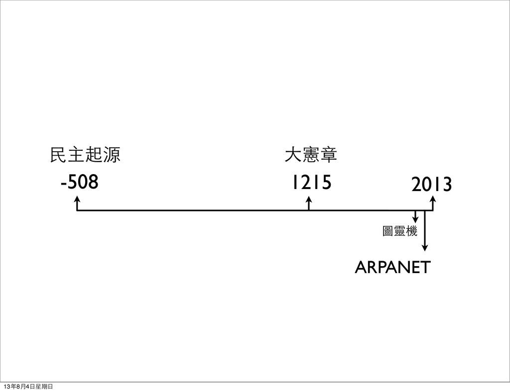 -508 2013 圖靈機 ARPANET 民主起源 1215 大憲章 13年8月4日星期日
