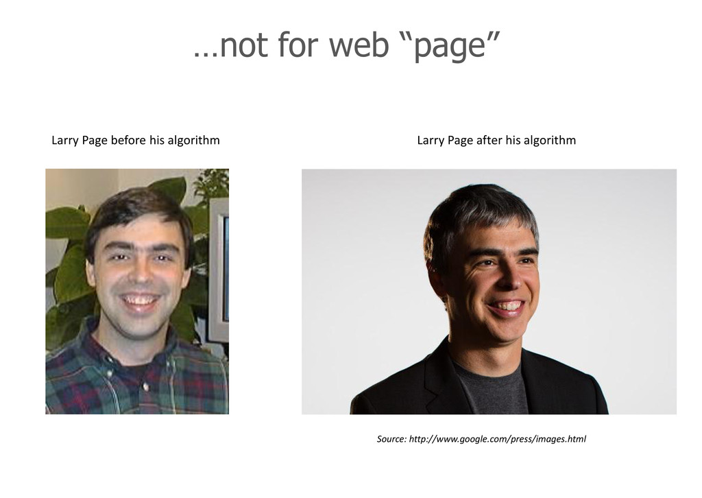 "…not for web ""page"" Larry Page before his algor..."