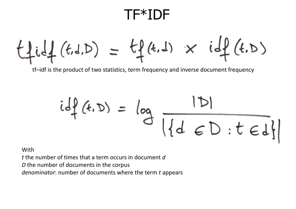 TF*IDF tf–idf is the product of two statistics,...