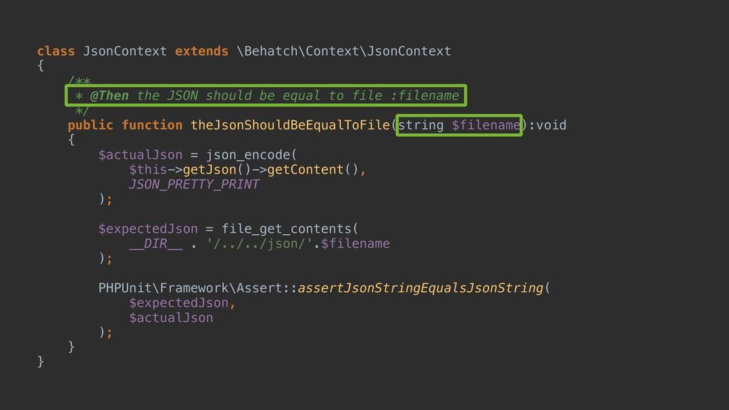 class JsonContext extends \Behatch\Context\Json...